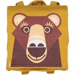 Sac à dos enfant MIBO ours brun - coton biologique