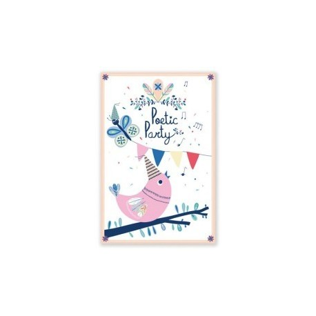 "8 cartes d'invitation ""Petite chouette"""
