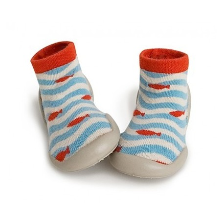 """Chaussons """"Cute fish"""" - Made in France"""