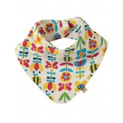 "Bavoir / foulard ""Soft Bumble Bloom"" - coton bio"