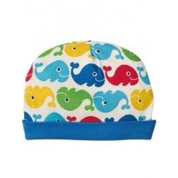 """Bonnet """"Rainbow whales"""" - coton bio"""