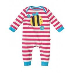 "Pyjama bébé ""Raspberry Stripe Bee"" - coton bio"