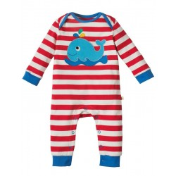 "Pyjama ""Tomato stripe/whale"" - coton bio"