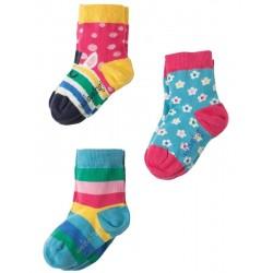 """Assortiment de 3 paires de chaussettes """"Susie Socks Zebra"""" - coton bio"""