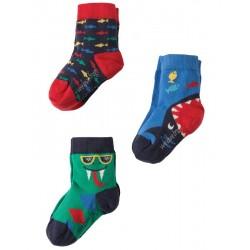 """Assortiment de 3 paires de chaussettes """"Rock My Socks Snake"""" - coton bio"""