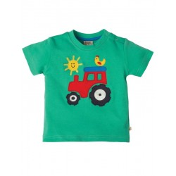 "T-shirt bébé ""Little Wheels Jungle Green Tractor"" - coton bio"