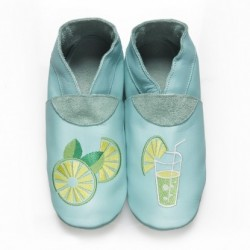 "Chaussons en cuir souple ""Mojito"""