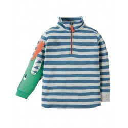 "Sweat  "" Grey Marl Stripe/Dino"" - coton bio"