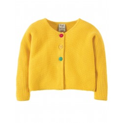 """Cardigan bébé """"Sun Yellow"""" - coton bio"""