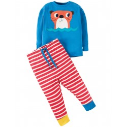 "Pyjama ""Sail Blue/Otter"" - coton bio"