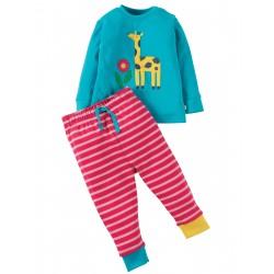 "Pyjama ""Turquoise/Giraffe"" - coton bio"