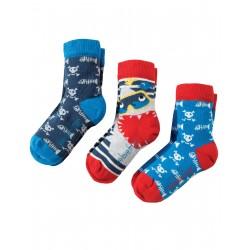 """Assortiment de 3 paires de chaussettes """"Sharks"""" - coton bio"""