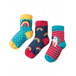 """Assortiment de 3 paires de chaussettes """"Unicorn"""" - coton bio"""