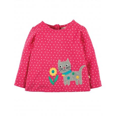 """T-shirt bébé """"Pink Spot/Cat"""" - coton bio"""
