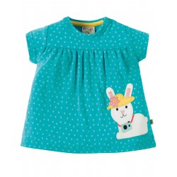 """T-shirt bébé """"Turquoise Spot/Bunny"""" - coton bio"""