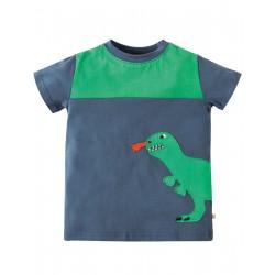 """T-shirt """"Soft Navy/Dino"""" - coton bio"""