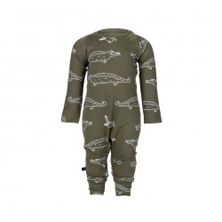 "Pyjama / combinaison bébé ""Croco"" - coton bio"