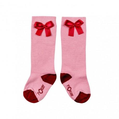 "Chaussette ""Bow Pink"" - coton bio"