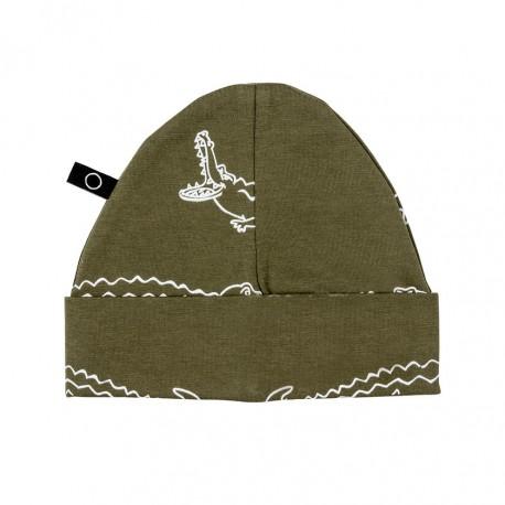 """Bonnet bébé """"Hatti Hat Croco"""" - coton bio"""