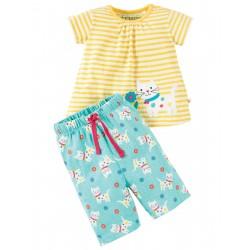 """Pyjama """"Daisy kitten / Cat"""" - coton bio"""