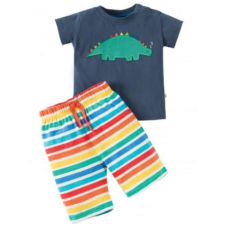"""Pyjama """"Soft Navy / Dino"""" - coton bio"""