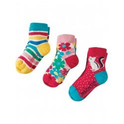 """Assortiment de 3 paires de chaussettes """"Chipmunk Multipack"""" - coton bio"""