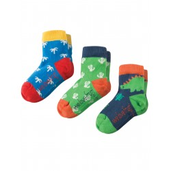 """Assortiment de 3 paires de chaussettes """"Dino Multipack"""" - coton bio"""