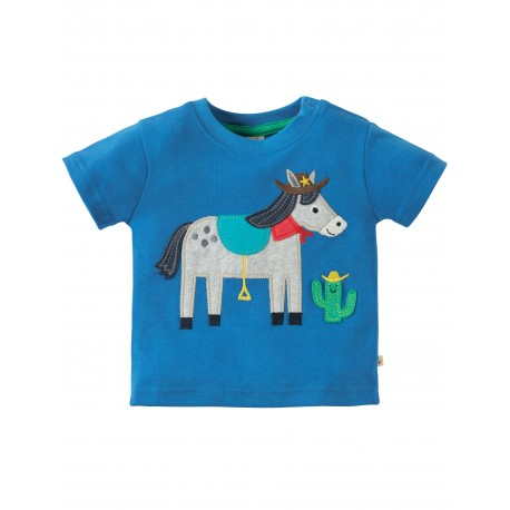 """T-shirt """"Sail Blue/Horse"""" - coton bio"""