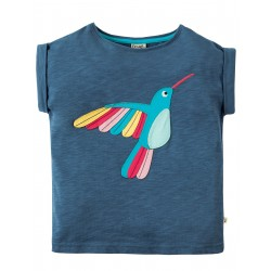 "T-shirt ""Soft Navy/Bird"" - coton bio"