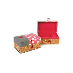 "Boîte à bijoux ""Bird Pink Dots"""