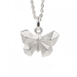 "Pendentif argent + chaîne ""Butterfly"""