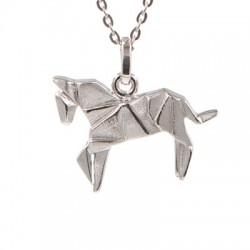 """Pendentif argent + chaîne """"Horse"""""""