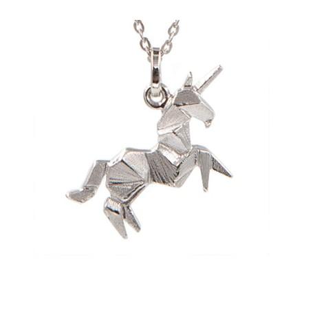 """Pendentif argent + chaîne """"Unicorn"""""""