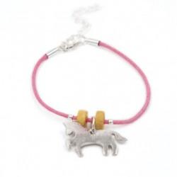 """Bracelet plaqué argent """"Horse"""""""