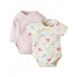 "Assortiment de 2 body's ""Chickadee"" - coton bio"
