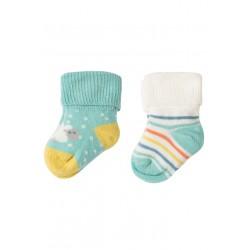 """Assortiment de 2 paires de chaussettes """"Lamb"""" - coton bio"""