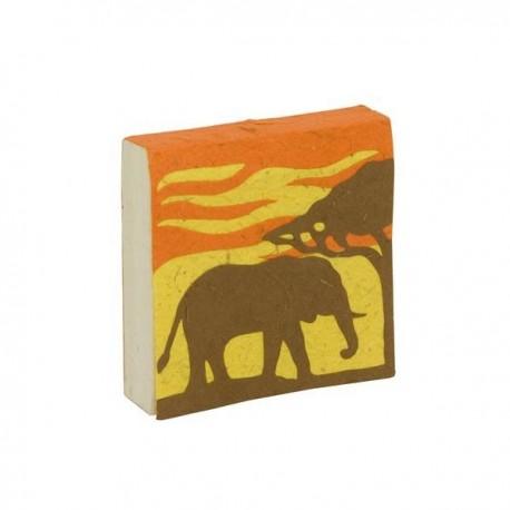 """Bloc-notes """"Savane - éléphant"""""""