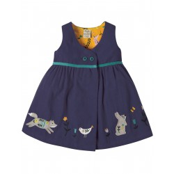 "Robe bébé ""Peony Navy Alpine Friend"" - coton bio"