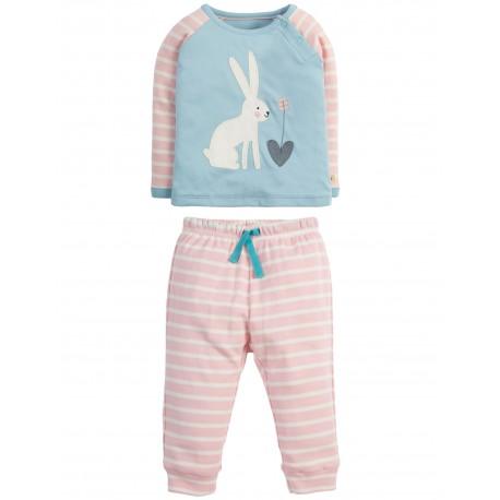 "Pyjama ""Stargaze, Shell Pink Breton Hare"" - coton bio"