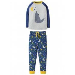"""Pyjama deux-pièces """"Jamie Jim Jams, Moonlit Night Wolf"""" - coton bio"""