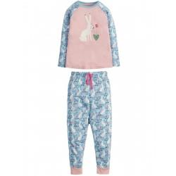 "Pyjama deux-pièces ""Jamie Jim Jams, Sky Blue Artic Hares"" - coton bio"