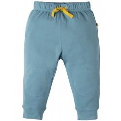 "Pantalon bébé ""Kneepatch Crawlers, River Blue"" - coton bio"