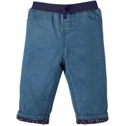 """Jeans bébé """"Comfy Lined Jeans, Chambray"""" - coton bio"""