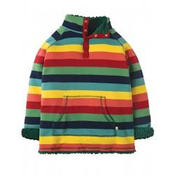 "Sweat réversible ""Snuggle Fleece, Rainbow Marl Stripe"" - coton bio"