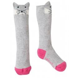 "Chaussettes ""Friendly Face Socks, Grey Marl Artic Fox"" - coton bio"