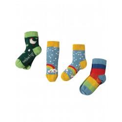 """Assortiment de 3 paires de chaussettes """"Chicken Multipack"""" - coton bio"""