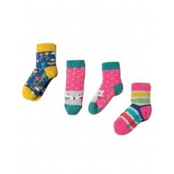 """Assortiment de 3 paires de chaussettes """"Rainbow Multipack"""" - coton bio"""
