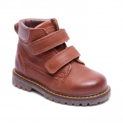 "Chaussures Bisgaard ""Velcro shoes"" Brandy"