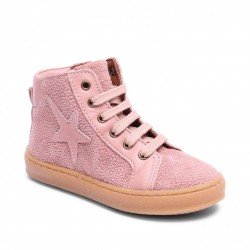 """Chaussures Bisgaard """"Shoes with laces"""" Brown rose"""
