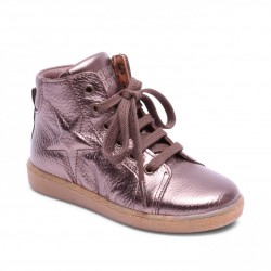"Chaussures Bisgaard ""Shoes with laces"" Stone grain"